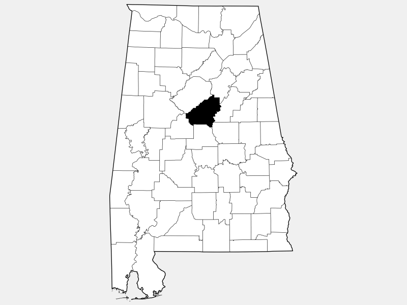 Shelby County location map