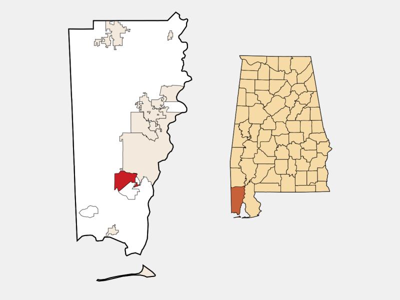 Tillmans Corner locator map
