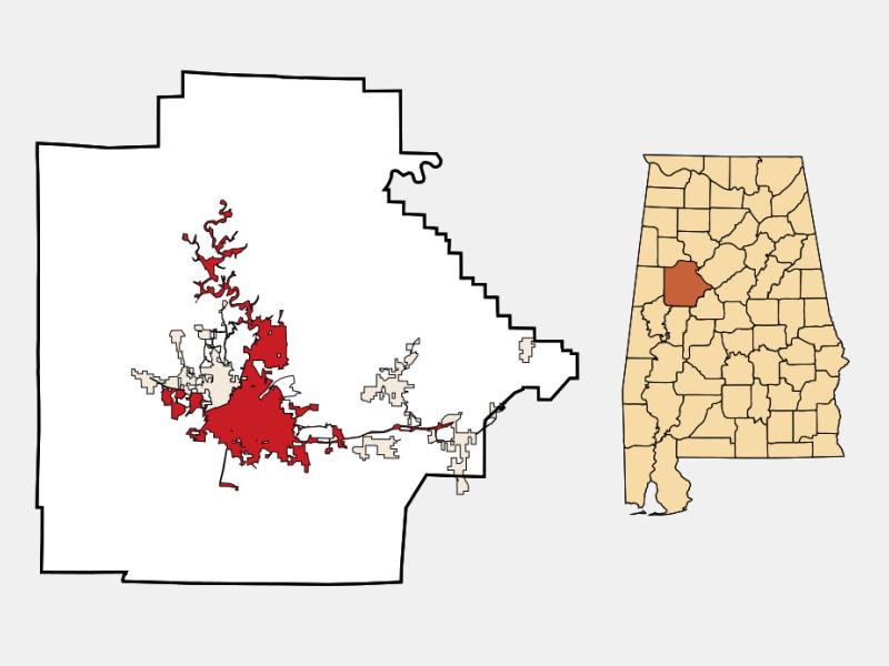 Tuscaloosa locator map