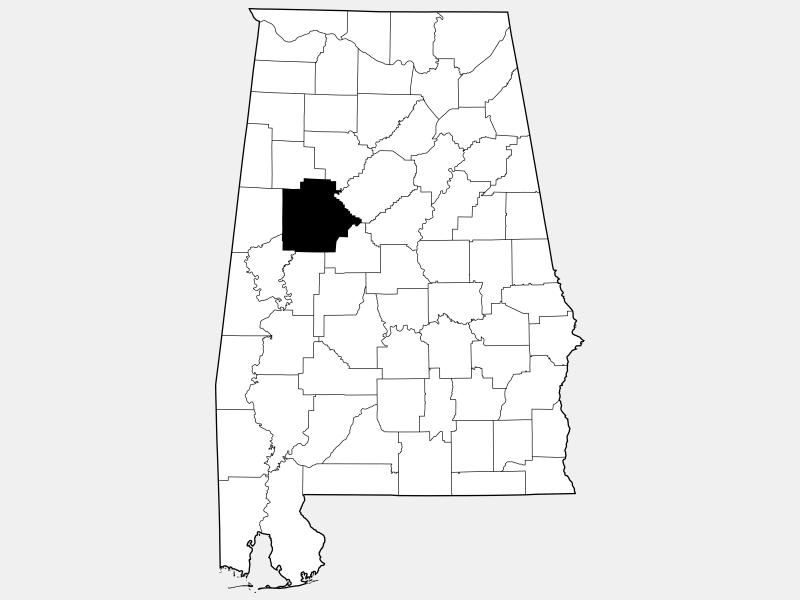 Tuscaloosa County locator map