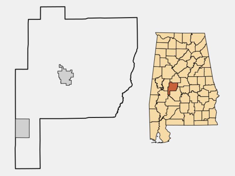 Uniontown locator map