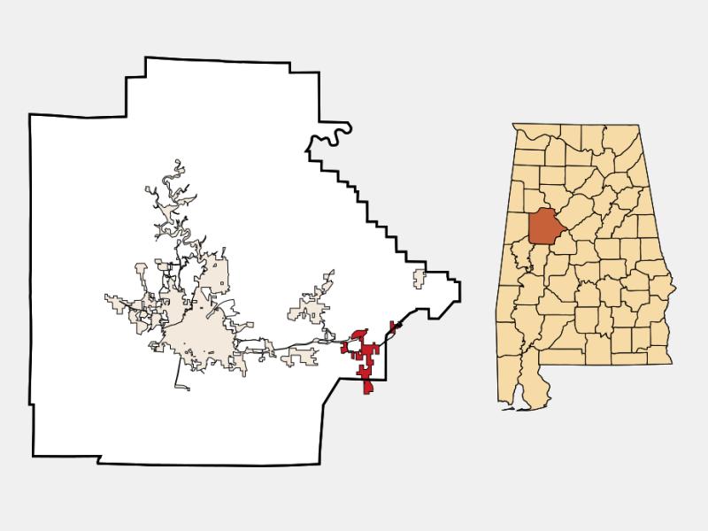 Vance locator map