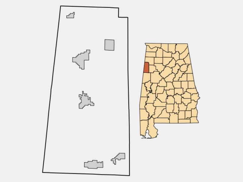 Vernon location map