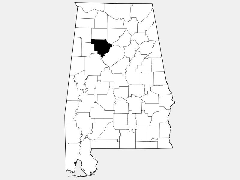 Walker County locator map