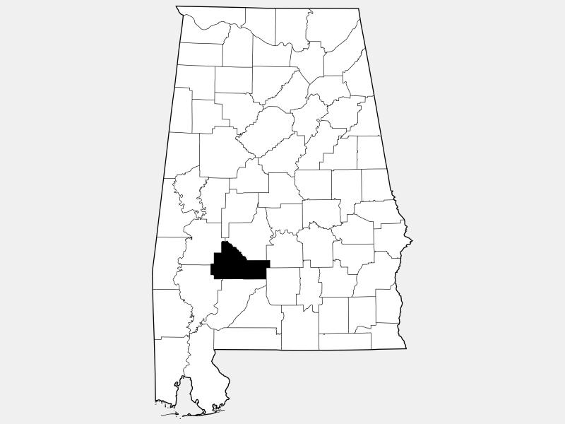 Wilcox County locator map