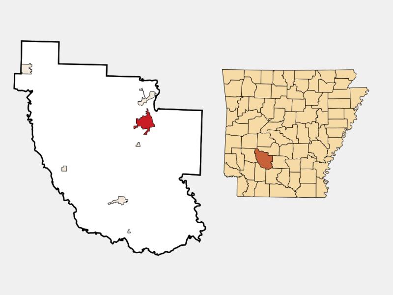 Arkadelphia locator map