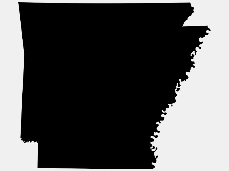 Arkansas County locator map