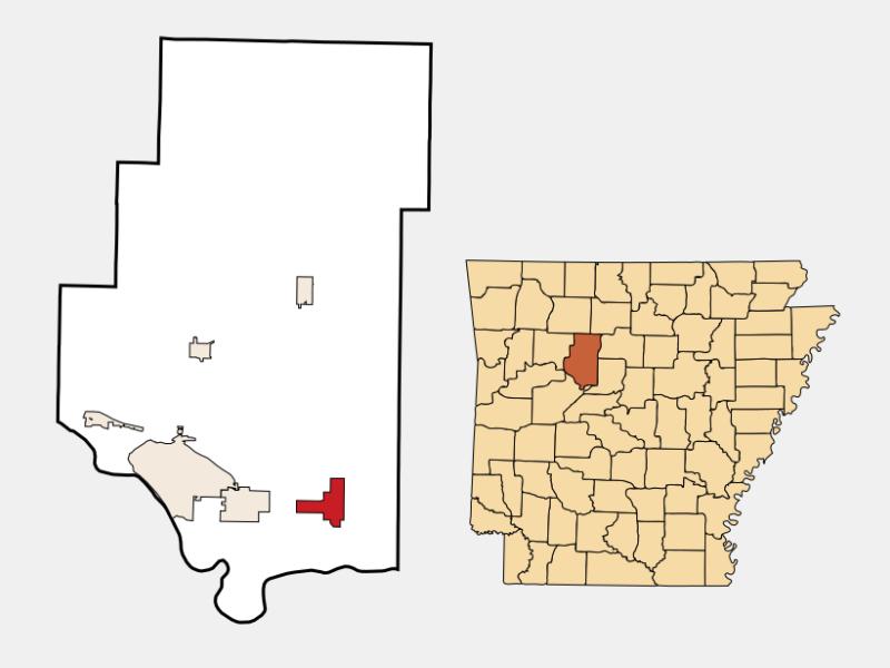 Atkins locator map