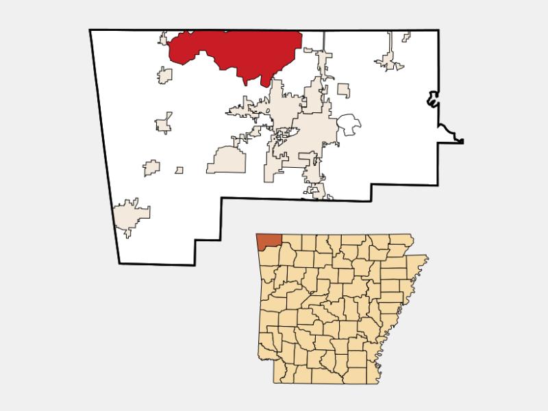 Bella Vista locator map