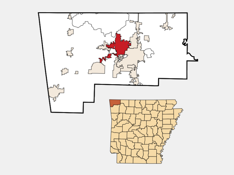 Bentonville locator map