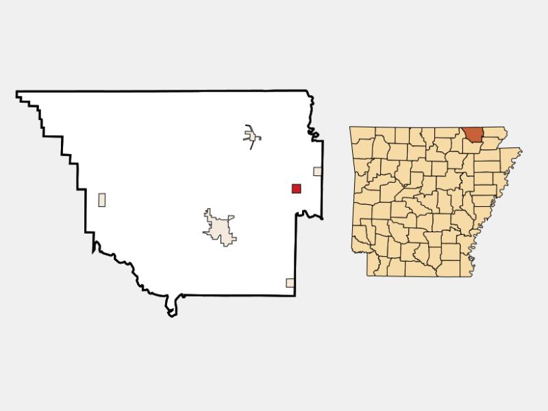 Biggers location map