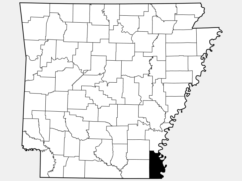 Chicot County location map