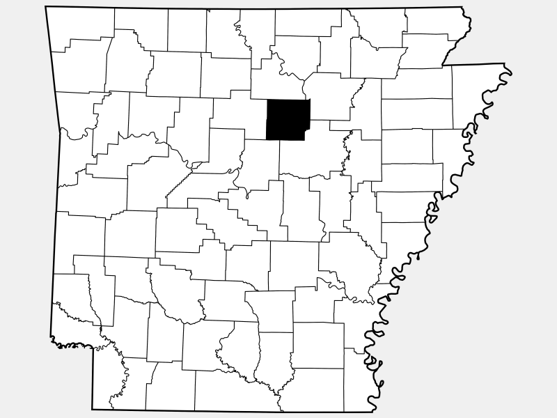 Cleburne County locator map