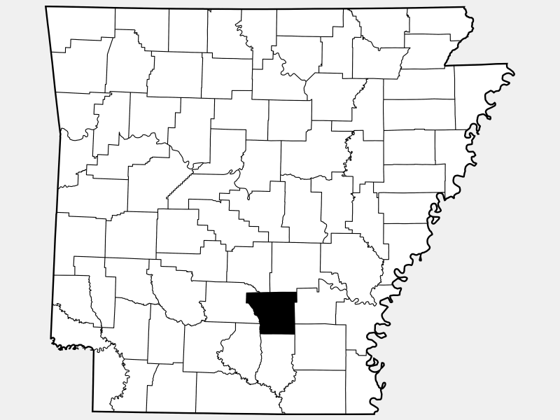 Cleveland County locator map