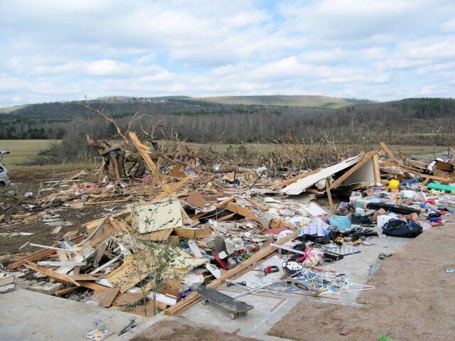 Tornado damage Clinton image