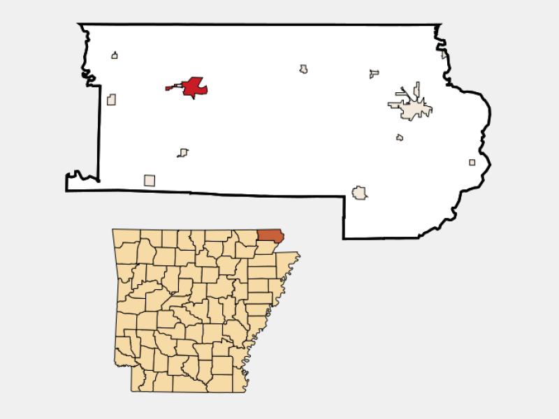 Corning locator map