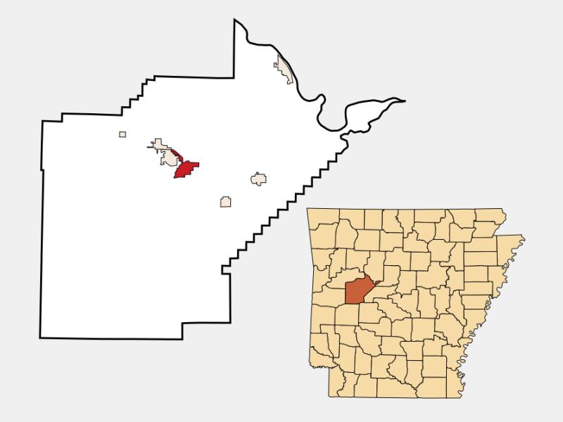 Danville locator map
