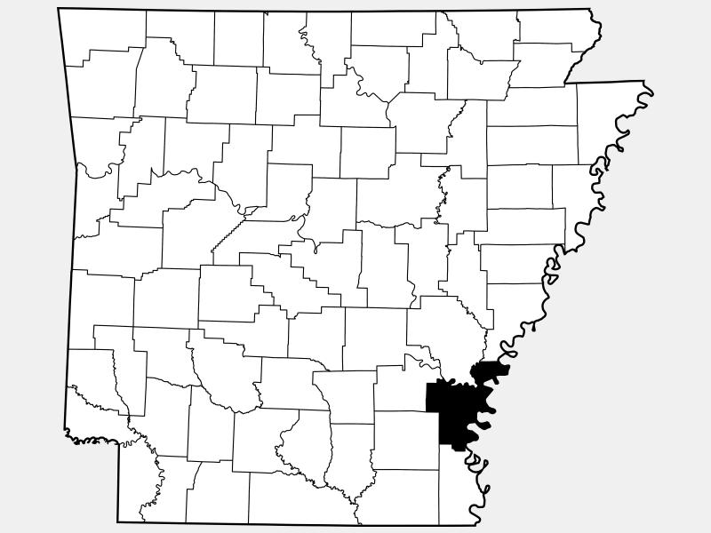 Desha County locator map