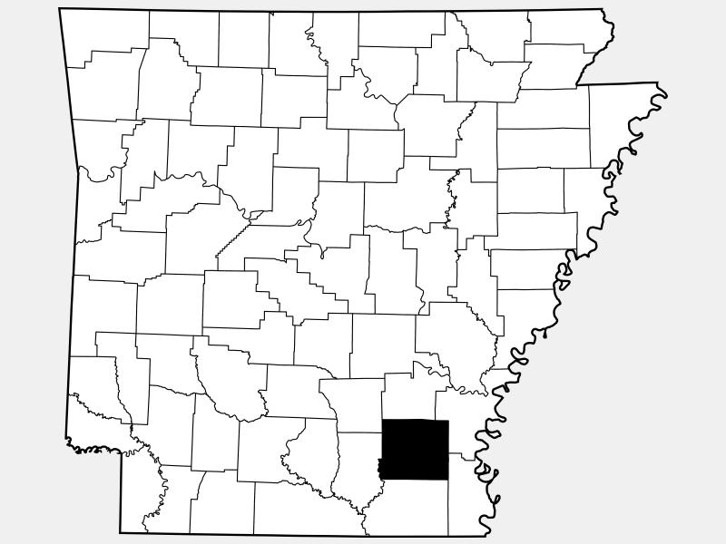 Drew County locator map