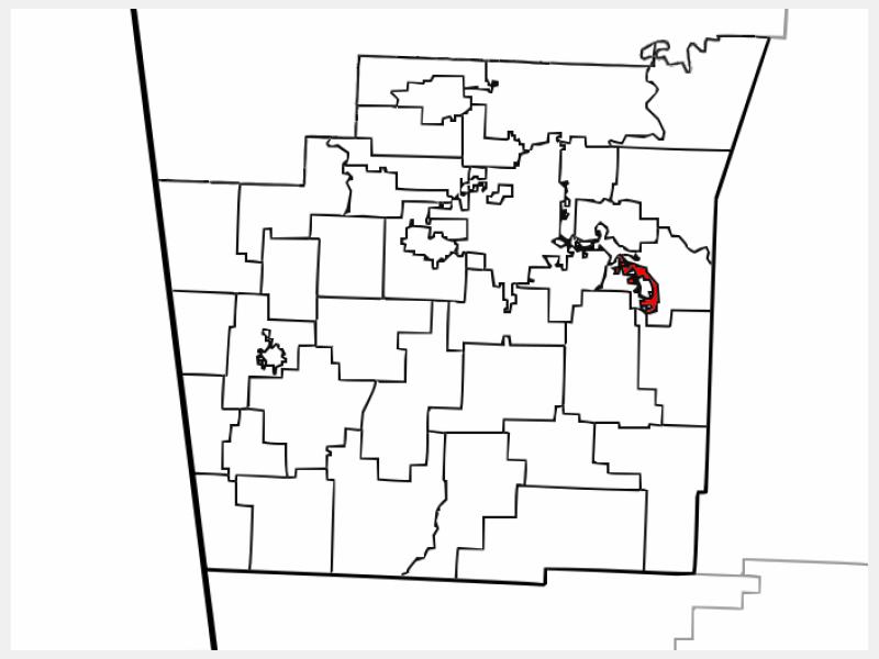 Elkins location map