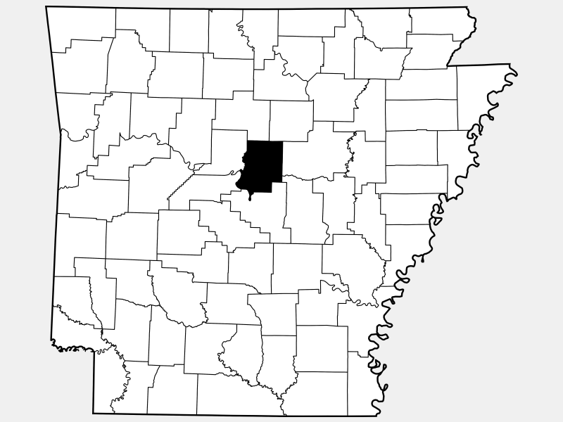 Faulkner County locator map
