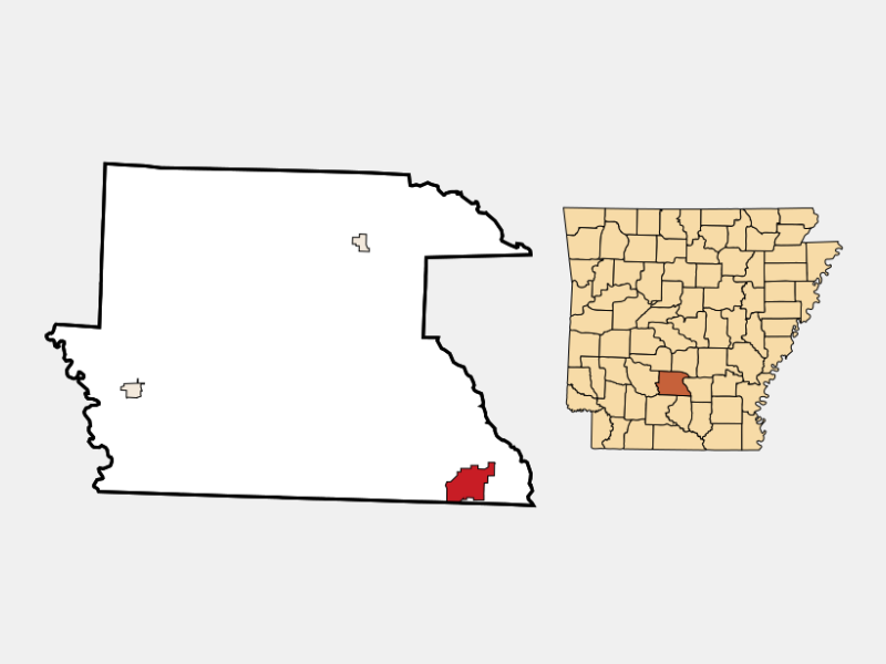 Fordyce locator map