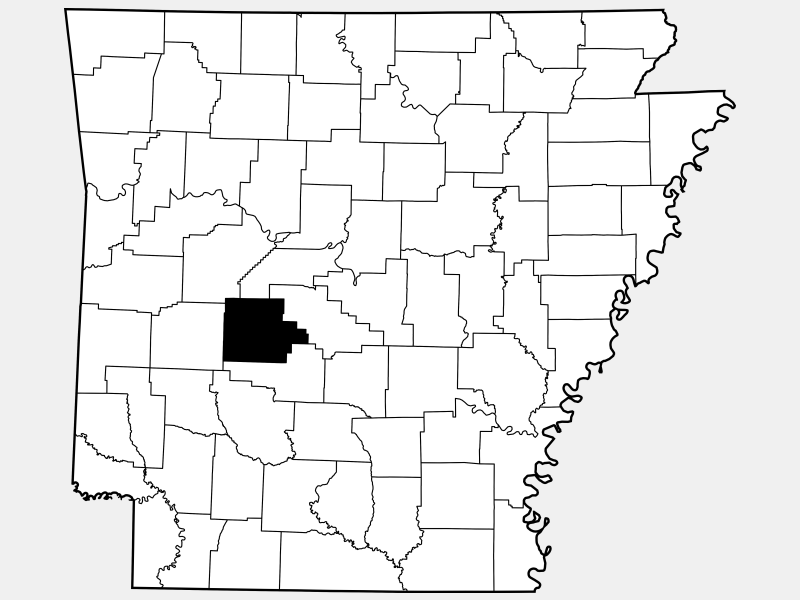 Garland County locator map