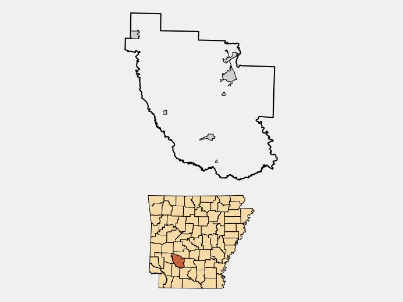 Gurdon locator map