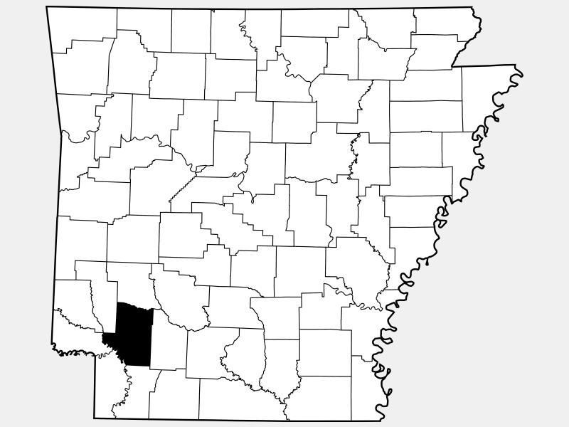 Hempstead County location map