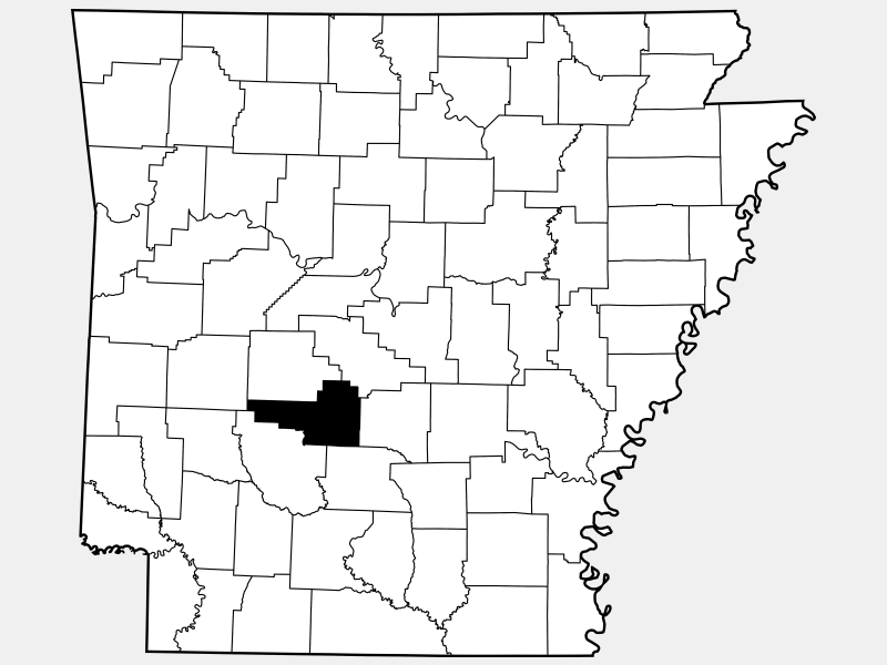 Hot Spring County locator map