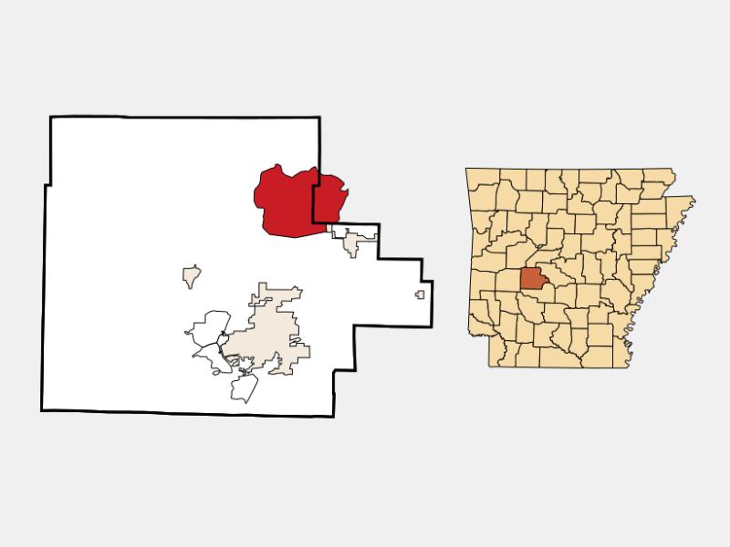 Hot Springs Village locator map