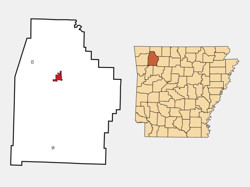 Huntsville locator map