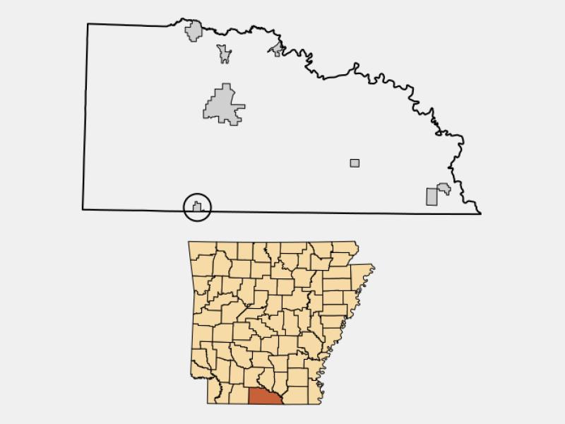 Junction City locator map