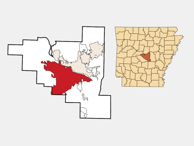 Little Rock locator map