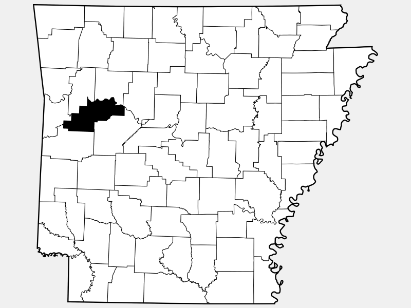 Logan County locator map