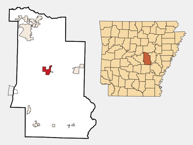 Lonoke location map