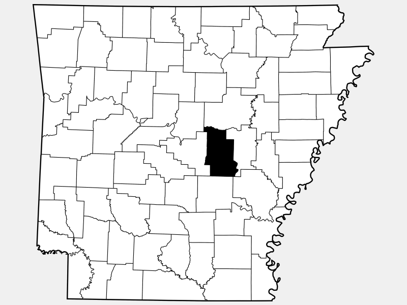 Lonoke County locator map