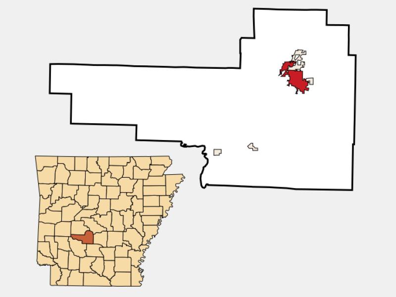 Malvern locator map