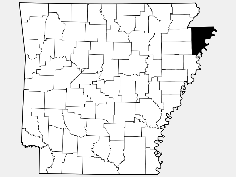 Mississippi County locator map