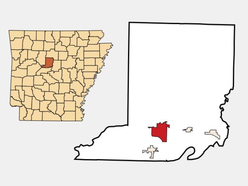 Morrilton location map