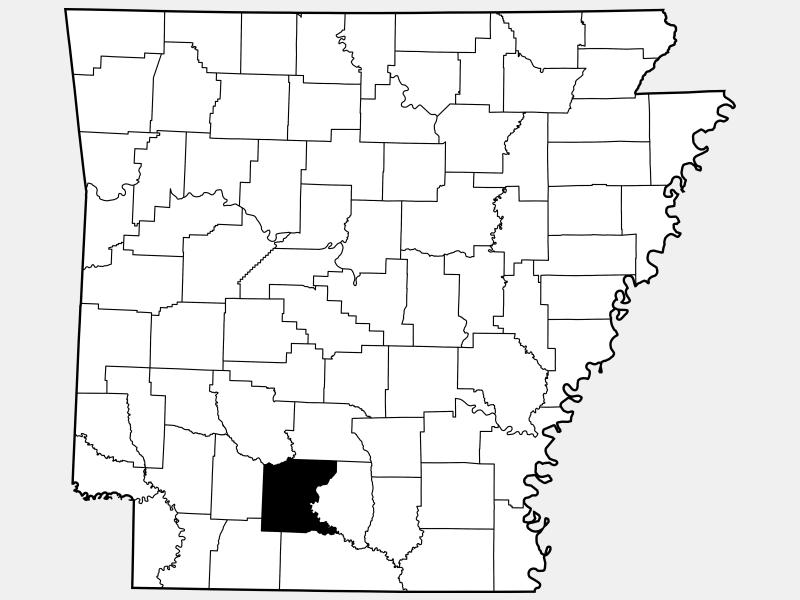 Ouachita County locator map