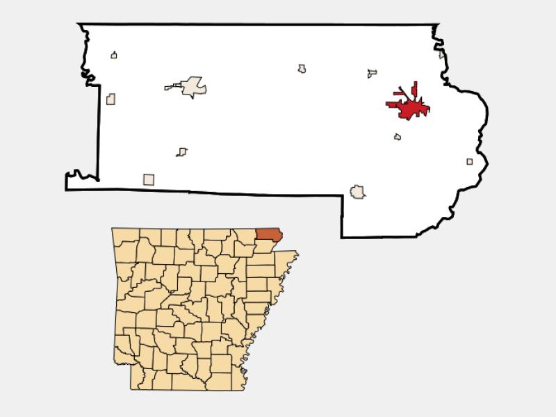 Piggott locator map