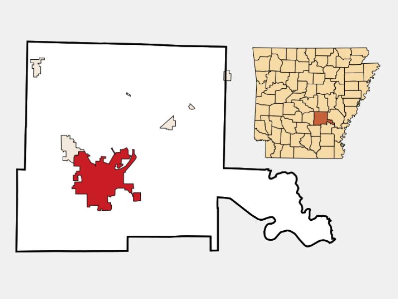 Pine Bluff locator map