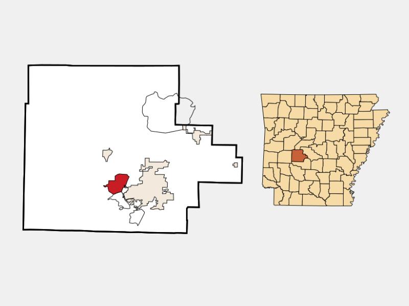 Piney locator map