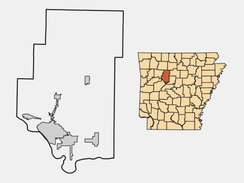 Pottsville locator map