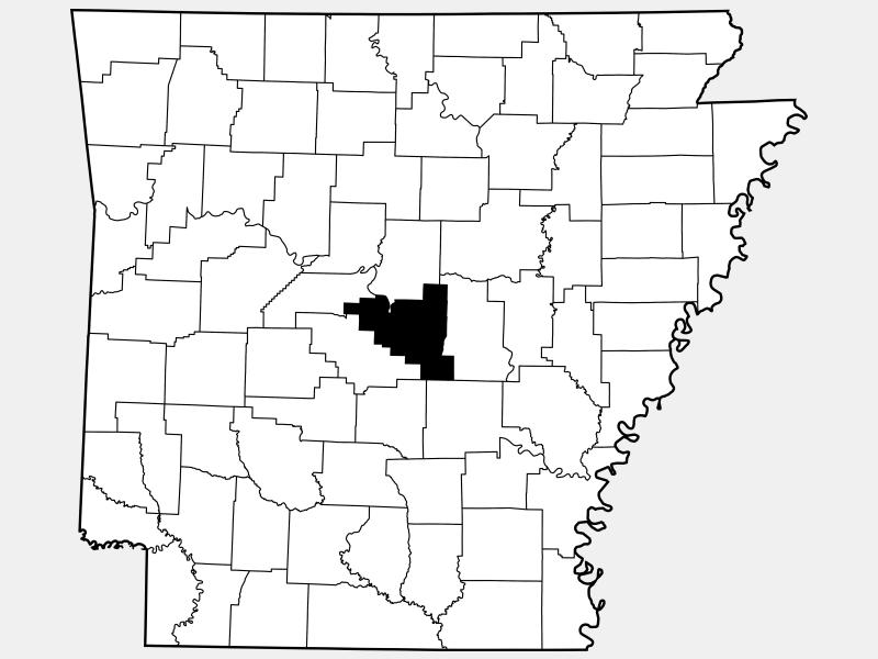 Pulaski County locator map