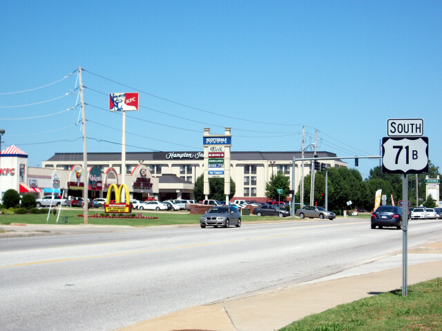 US 71B in Rogers image