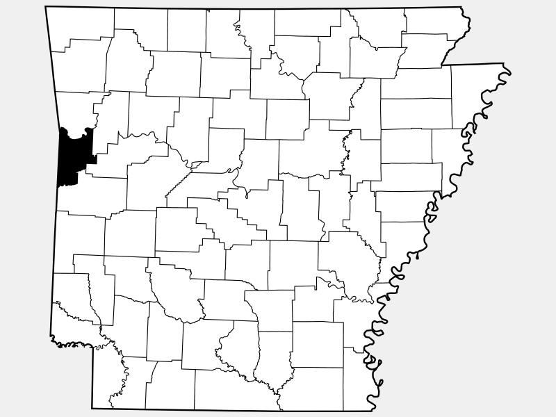 Sebastian County locator map
