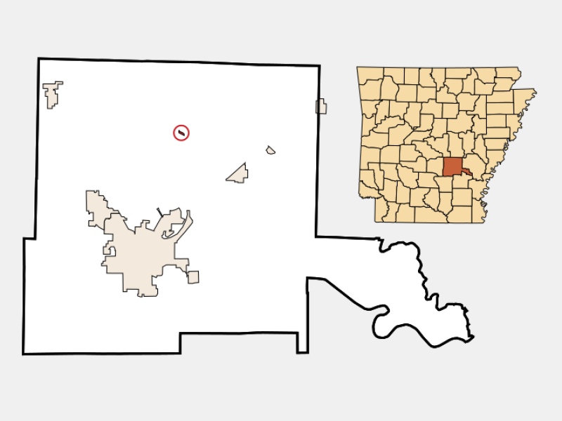 Sherrill locator map