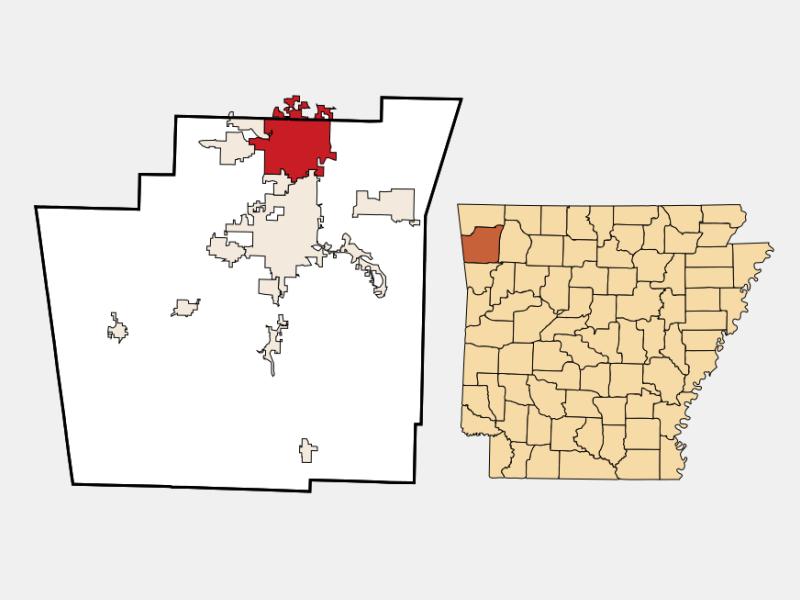 Springdale locator map